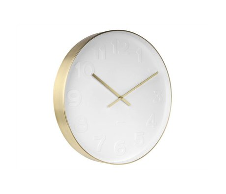 Karlsson Wall clock Mr. White white steel Ø51cm