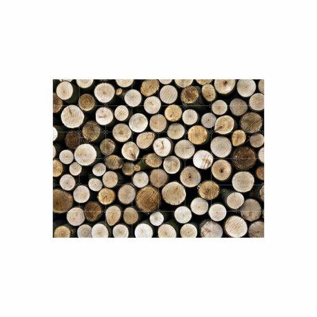 IXXI Wanddecoratie Wood multicolour papier L 120x160cm
