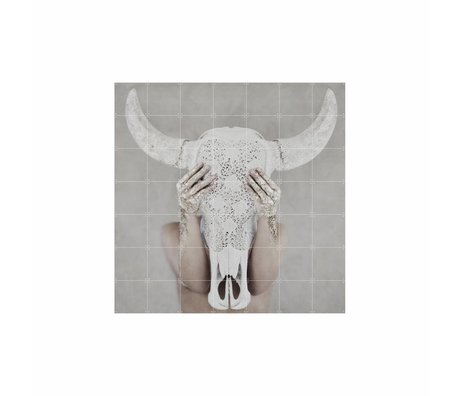 IXXI Wanddecoratie Bohemian skull multicolour papier L 140x140cm