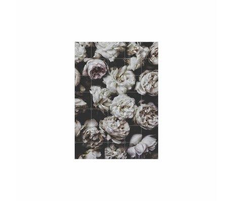 IXXI Wanddecoratie Peony Roses multicolour papier L 100x140cm