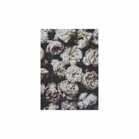 IXXI Wanddekoration Peony Rosen buntes Papier L 100x140cm
