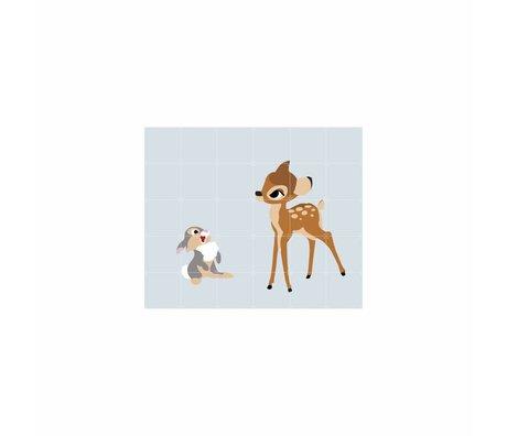 IXXI Wanddecoratie Bambi and Thumper multicolour papier L 120x100cm
