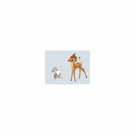IXXI Décoration murale Bambi et Panpan papier S 80x60cm multicouleur