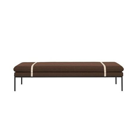 Ferm Living Daybed Turn rust wool nylon 190x80x42,5cm