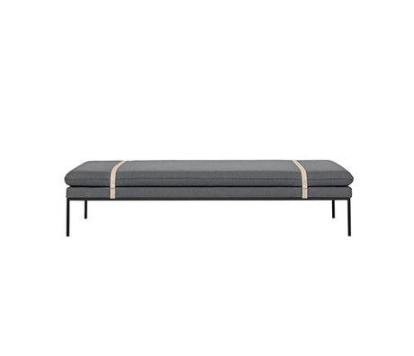 Ferm Living Daybed Tourner 190x80x42,5cm en nylon laine grise
