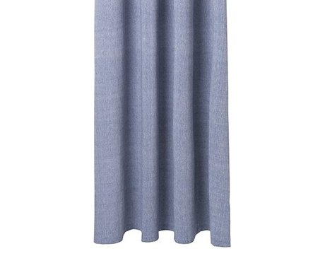 Ferm Living Chambray blaue Baumwolle Vorhang 160x205cm