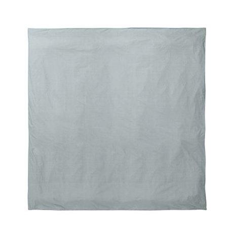 Ferm Living Dekbedovertrek Hush dusty blauw 220x220cm