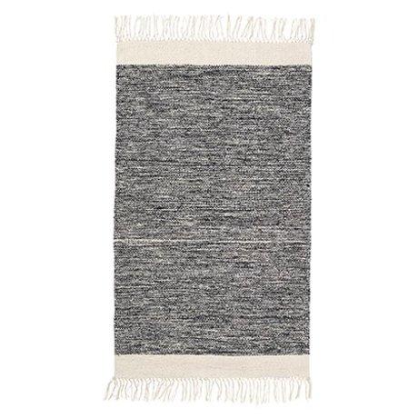 Ferm Living Floor cover Melange black cotton 60x100cm