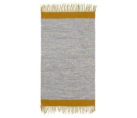 Ferm Living Floor cover Melange gray yellow cotton 60x100cm