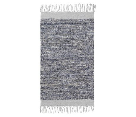 Ferm Living Vloerkleed Melange blauw katoen 60x100cm
