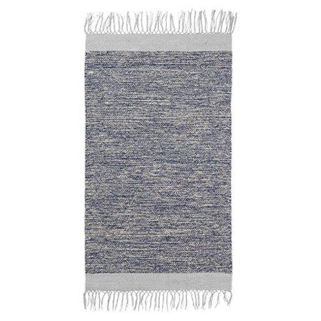 Ferm Living Floor cover Melange blue cotton 60x100cm