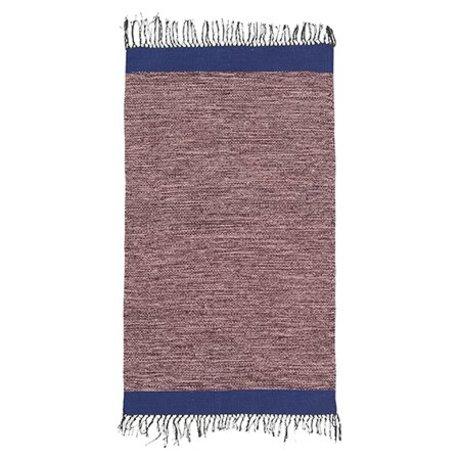 Ferm Living Floor cover Melange pink blue cotton 60x100cm