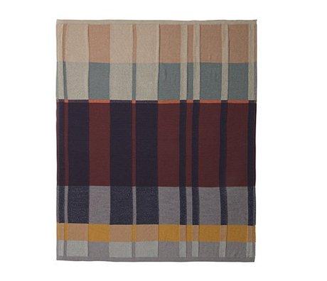 Ferm Living Deken Medley Knit katoen multicolour 160x120cm