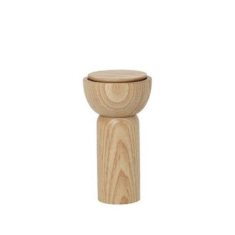 Ferm Living Peper/zoutmolen naturel hout Ø6.5x12cm