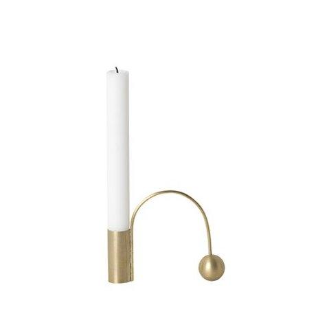 Ferm Living Candlestick Balance gold metal 12.5x9x2.6cm