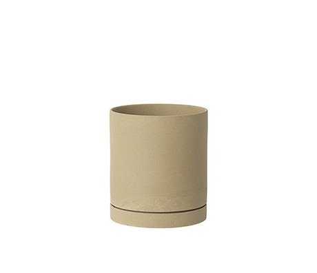 Ferm Living Sekki beige Keramik-Blumentopf groß Ø15,7x17,7cm