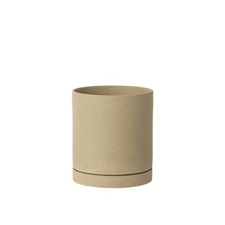 Ferm Living Flowerpot Sekki beige ceramic large Ø15,7x17,7cm