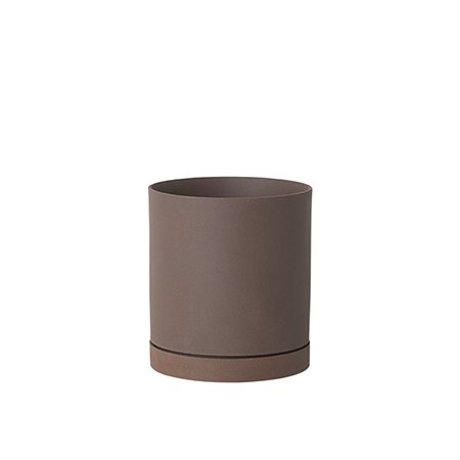 Ferm Living céramique rougeâtre Flowerpot sekki grand Ø15,7x17,7cm - Copier