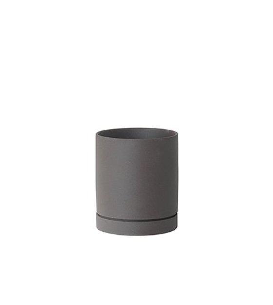 Ferm Living Pot De Fleurs Sekki Gris Moyen O15 7x13 5cm Ceramique