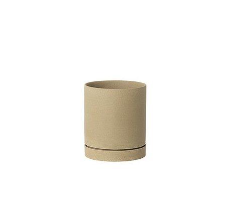 Ferm Living grand pot de fleurs Ø15,7x13.5cm céramique beige Sekki