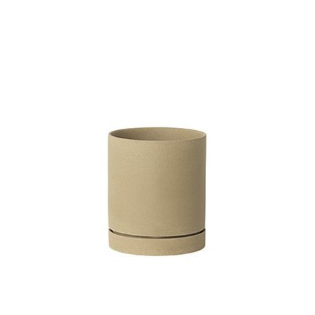 Ferm Living Sekki beige Keramik-Blumentopf groß Ø15,7x13.5cm