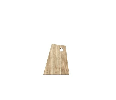 Ferm Living Cutting board asymmetrical natural oiled wood small
