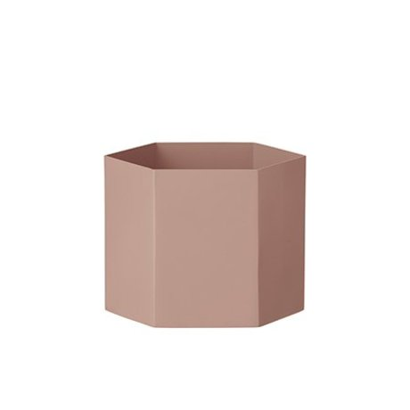 Ferm Living Pot Hexagon pink Ø18x14cm Extra large