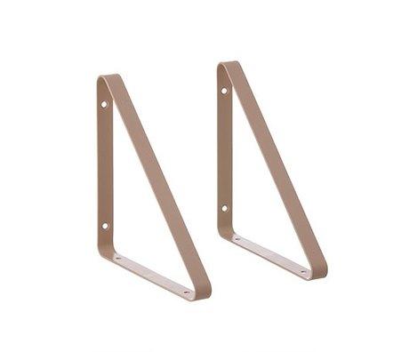 Ferm Living Plankdragers roze metaal 24.5x24.5x2.5cm