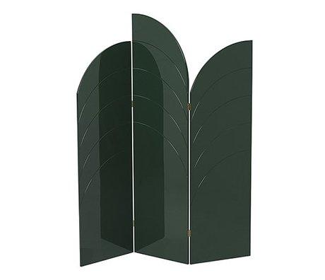 Ferm Living Kamerscherm Unfold hoogglans donker groen mdf 150x180x1,8cm