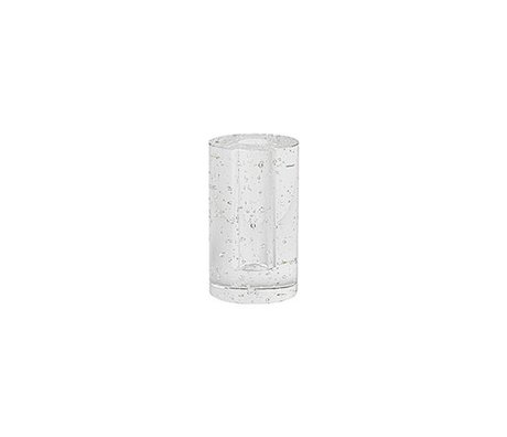 Ferm Living Deco-object Cylinder bubble glas 6.6x11.3cm
