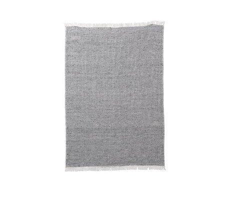 Ferm Living Keukenhanddoek Blend grijs katoen linnen 70x50cm