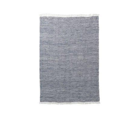 Ferm Living Keukenhanddoek Blend blauw katoen linnen 70x50cm