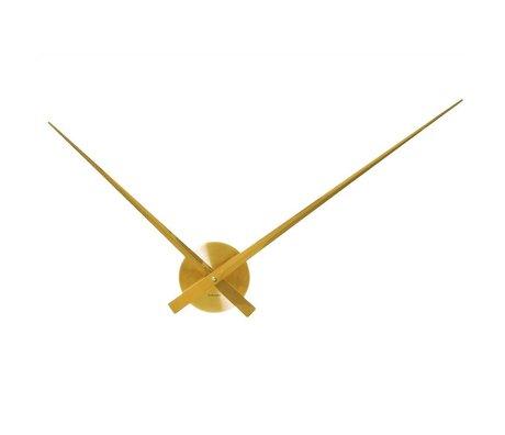Karlsson Big Time Wall Clock Ø90cm en aluminium d'or