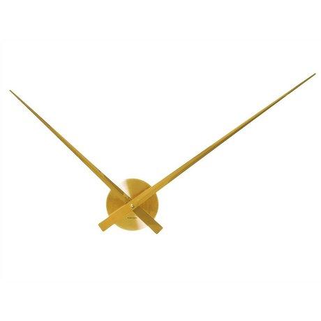 Karlsson Wall clock Big Time gold aluminum Ø90cm
