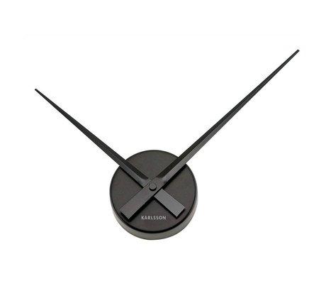 Karlsson Horloge murale Big Time Mini Ø44cm en aluminium noir