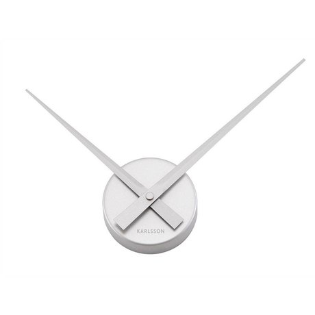 Karlsson Big Time Wanduhr Mini-Silber-Aluminium Ø44cm