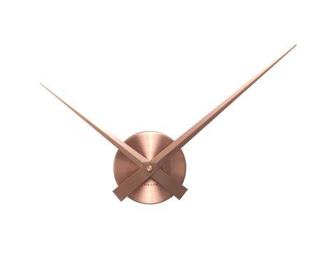 Karlsson Wall clock Big Time mini copper aluminum Ø44cm