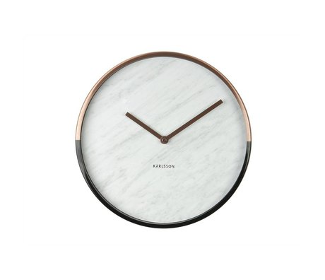 Karlsson Wall clock Marble Delight white metal Ø40cm