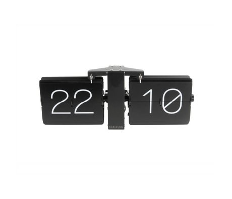 Karlsson Flip Clock No Case Black Steel 14x36cm