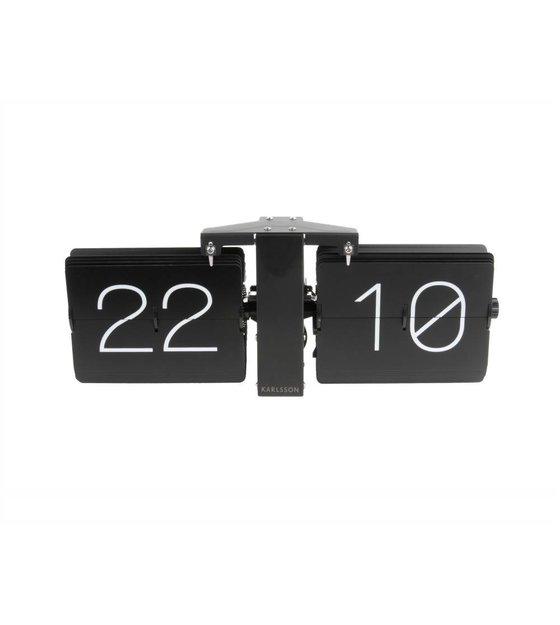Karlsson Uhr karlsson keine uhr flip schwarz stahl 14x36cm wonen met lef