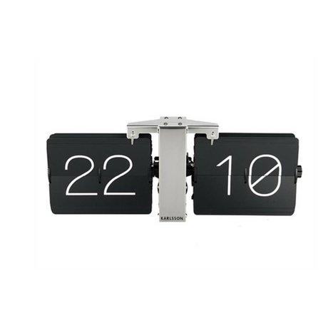 Karlsson Keine Uhr Flip Case Silber Stahl 14x36cm