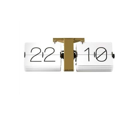 Karlsson Aucune Flip Clock Case 14x36cm en acier d'or