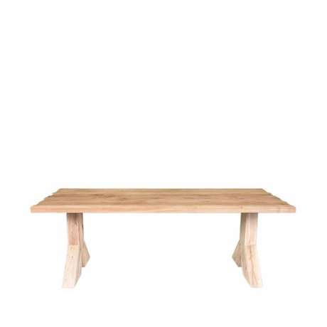 LEF collections table à manger en chêne brun Jip 220x100x76cm