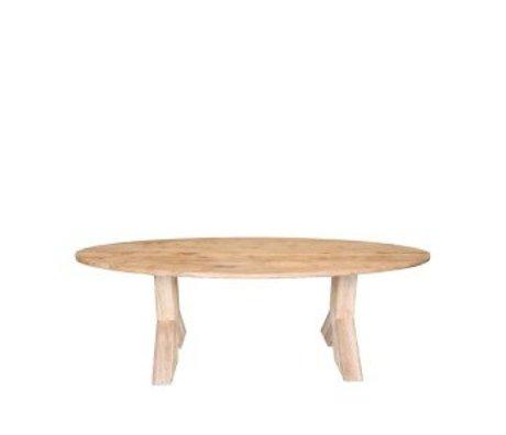 LEF collections salle à manger en chêne brun Mees table de 230x110x76 cm