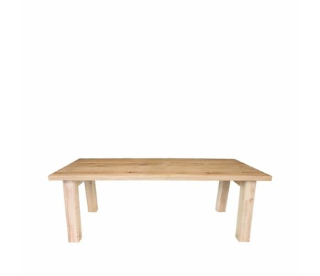 LEF collections Dining table Daan brown oak 200x100x76cm