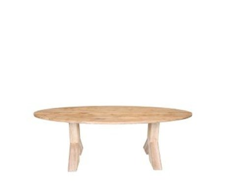 LEF collections Dining table Most brown oak 210x110x76 cm