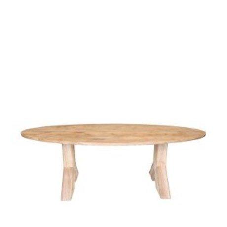 LEF collections salle à manger en chêne brun Mees table de 210x110x76 cm