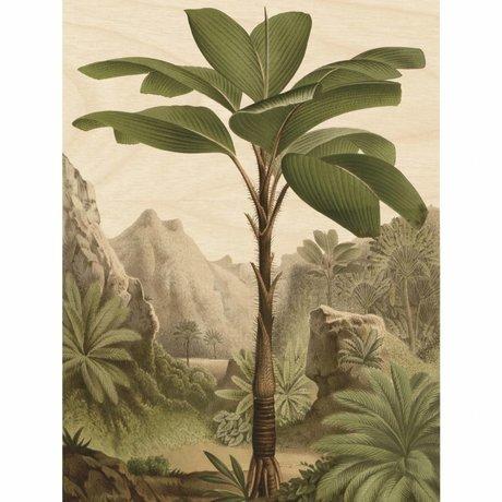 KEK Amsterdam Houten paneel Botanical Banana Tree XL 120x180cm