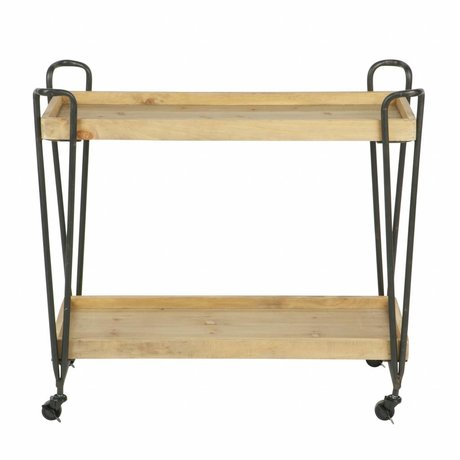 LEF collections Trolley Zoé metaal hout 84x38x92
