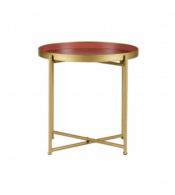 Lef Collections Side Table Jules Pink Gold Metal Set Of 2 Meer Van
